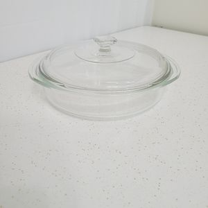 Pyrex Glass Serving Bowl with Lid #221 8 1/4